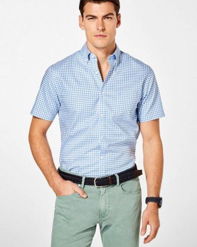 Голубая рубашка с короткими рукавами Pedro Del Hierro