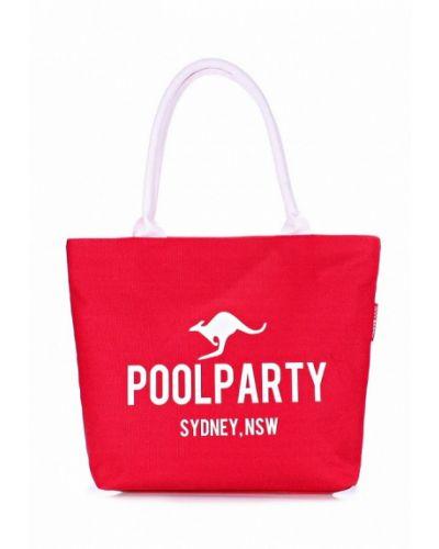 Красная пляжная сумка Poolparty