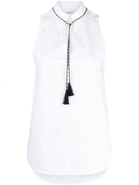 Хлопковая белая блузка без рукавов Dondup