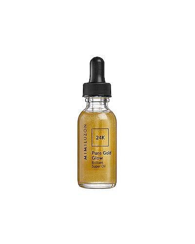 Мерцающее кожаное масло для лица от морщин золотое Mimi Luzon
