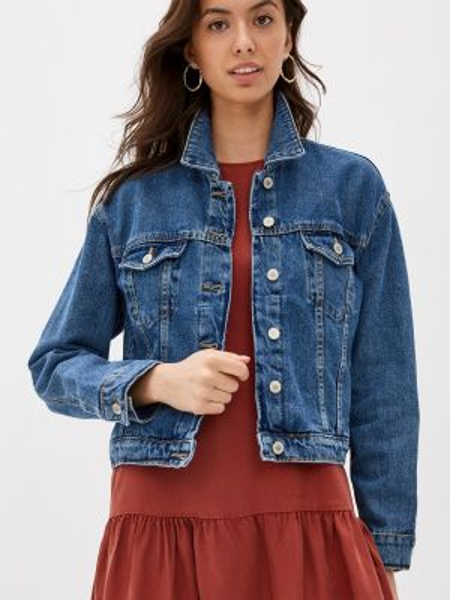 Джинсовая куртка весенняя синий Ovs