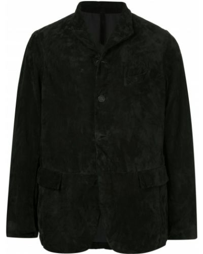 Черный однобортный классический пиджак Bergfabel