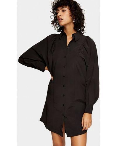 Черное платье-рубашка Topshop