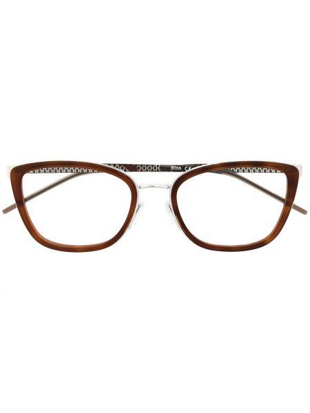 Oprawka do okularów srebrne - brązowe Boss