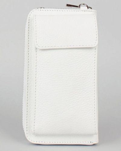 Кожаная сумка через плечо - белая Bella Bertucci