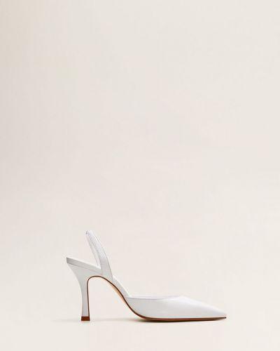 Туфли на каблуке на шпильке кожаные Mango