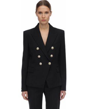 Пиджак двубортный шелковый Balmain
