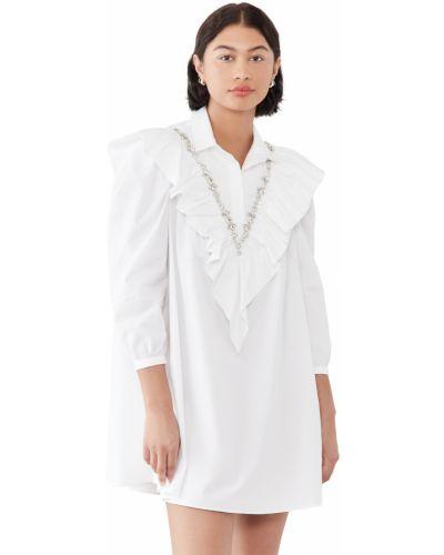 Biała sukienka koszulowa bawełniana Shushu/tong