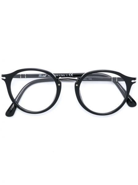 Черные очки круглые металлические Persol