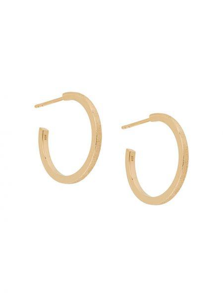Złote kolczyki sztyfty pozłacane Isabel Lennse