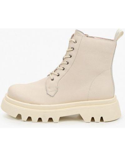 Кожаные ботинки - бежевые Just Couture