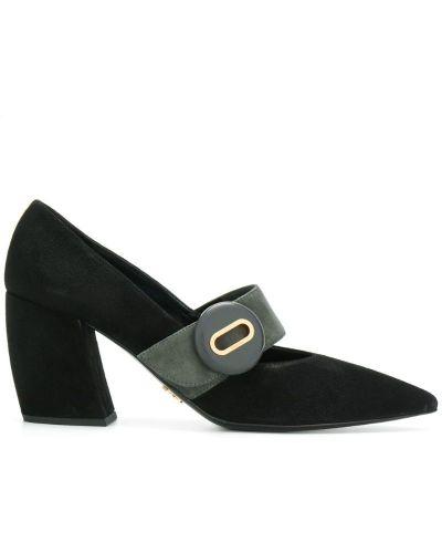Кожаные туфли замшевые Prada
