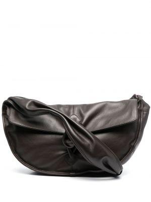 Brązowa torba na ramię skórzana Hereu
