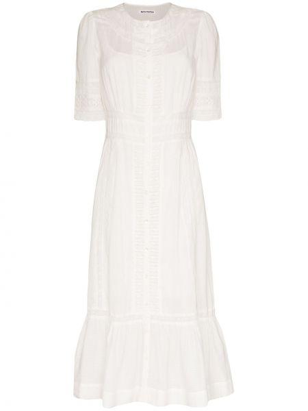 Платье миди с вышивкой на пуговицах Reformation