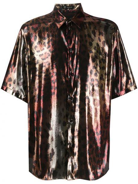 Koszula z kołnierzem z nadrukiem Versace