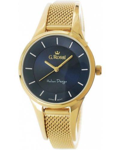 Srebro złoty zegarek siatkowaty Gino Rossi