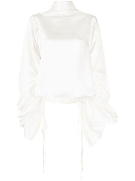 Блузка с воротником - белая Solace London