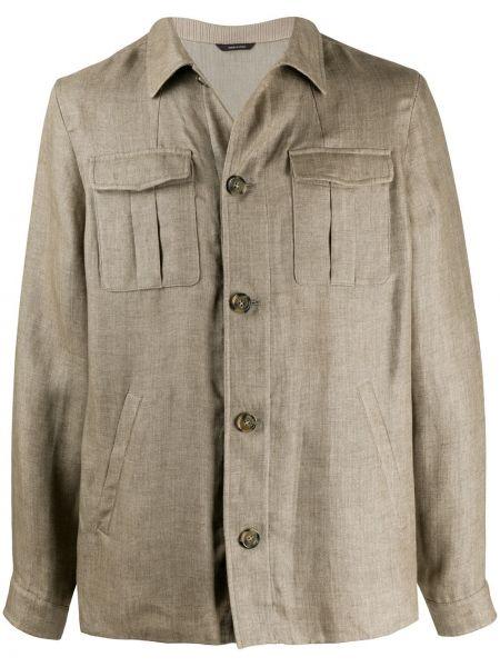 Koszula z długim rękawem klasyczna z kieszeniami Loro Piana