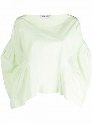 Зеленая блузка длинная Henrik Vibskov