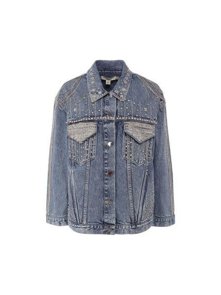 Джинсовая куртка с карманами Alice + Olivia