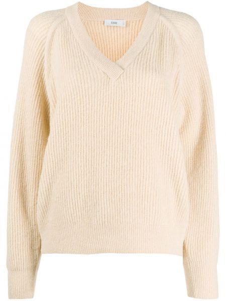 С рукавами шерстяной длинный свитер с вырезом Closed