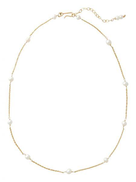 Złoty naszyjnik perły pozłacany Brinker & Eliza