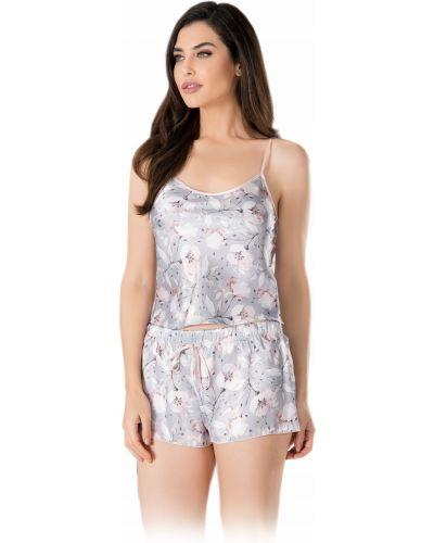 Różowa satynowa piżama Vienetta