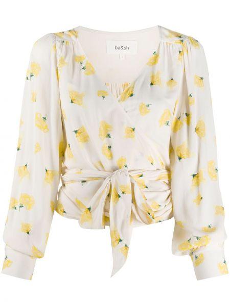 С рукавами блузка с вырезом из вискозы Ba&sh