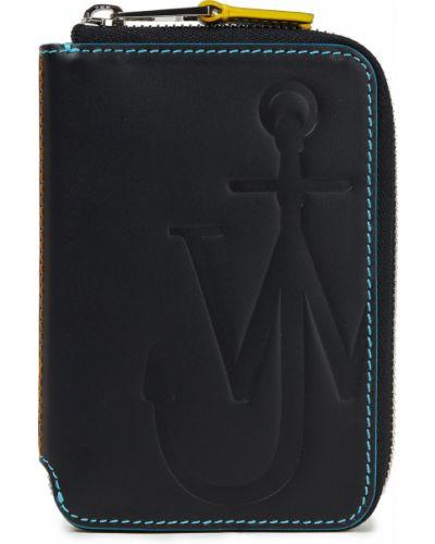 Czarny portfel srebrny Jw Anderson