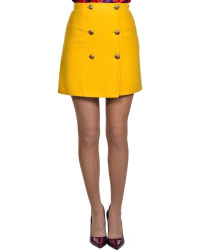 Кожаная юбка желтый Vdp