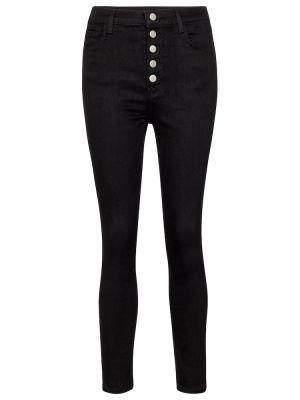 Джинсовые зауженные джинсы - черные J Brand