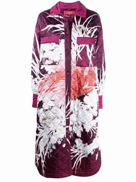 Фиолетовое пальто с воротником F.r.s For Restless Sleepers