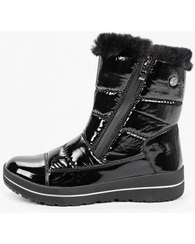 Лаковые черные кожаные дутики Caprice
