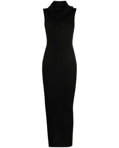 Czarna sukienka midi bez rękawów Rick Owens
