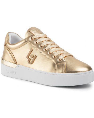 Żółte złote sneakersy Liu Jo