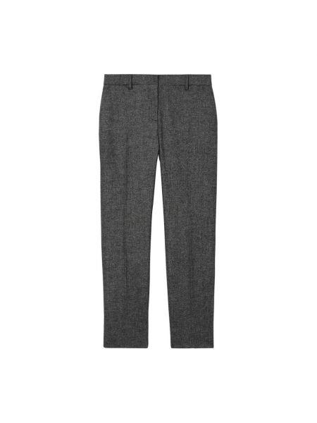 Szare spodnie Burberry