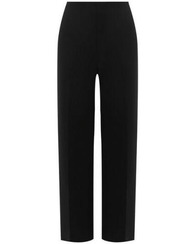 Шелковые со стрелками черные брюки Oscar De La Renta