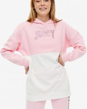 Толстовка оверсайз со стразами Juicy By Juicy Couture