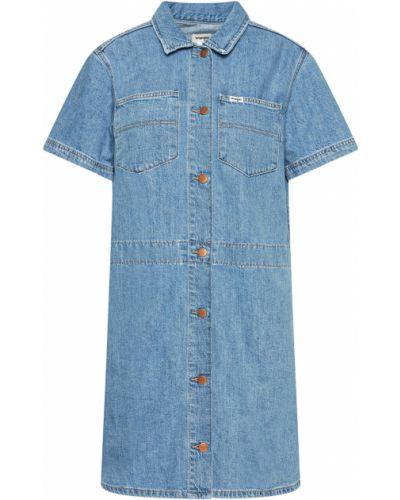 Голубое джинсовое платье Wrangler