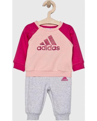 Розовый спортивный костюм с принтом Adidas Performance
