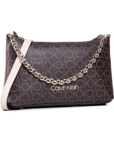 Brązowy torebka crossbody Calvin Klein