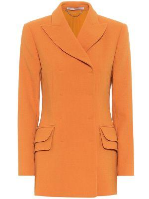 Оранжевый шерстяной пиджак Emilia Wickstead
