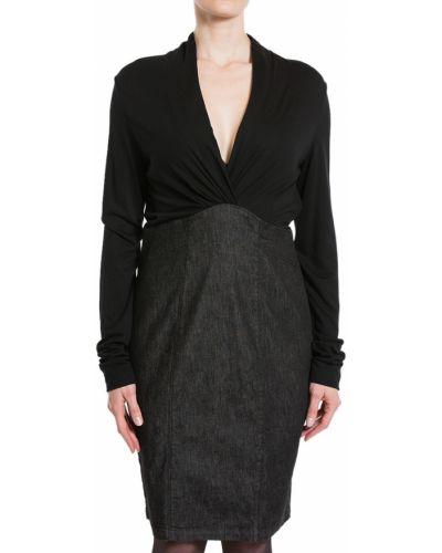 Хлопковое платье - черное Armani Jeans