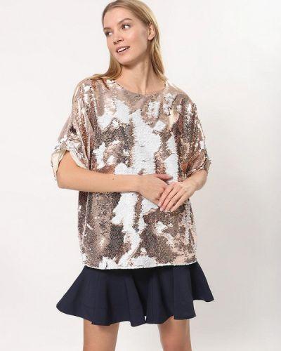Блузка с коротким рукавом золотой Tutto Bene