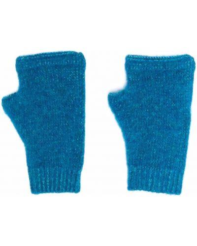 Rękawiczki bez palców wełniane - niebieskie Stone Island Shadow Project