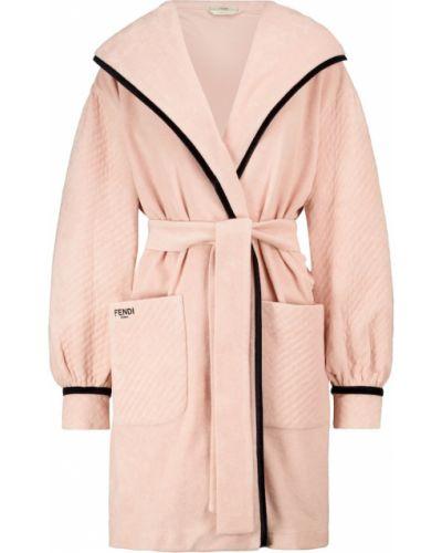 Махровый халат - розовый Fendi