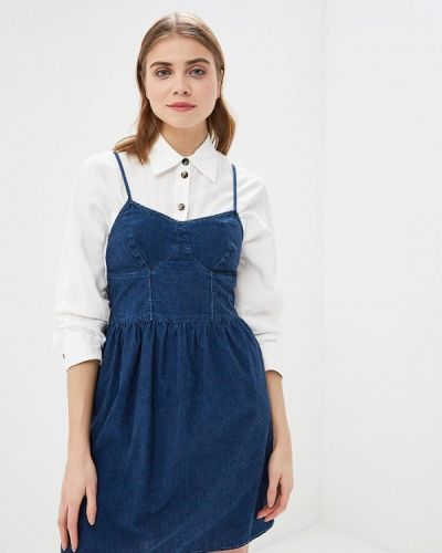Джинсовое платье весеннее синее Pepe Jeans