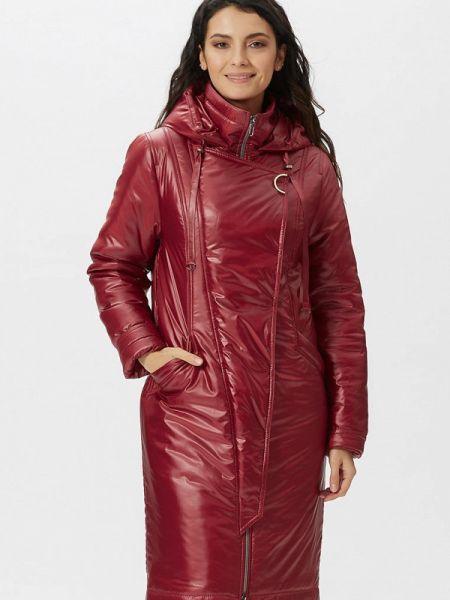Теплая красная утепленная куртка D`imma