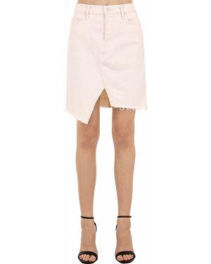 Джинсовая юбка с карманами на пуговицах Mother