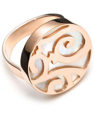 Różowy złoty pierścionek perły Mattioli